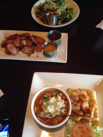Sugar Land, TX : Lunch special with jalapeno sausage plate