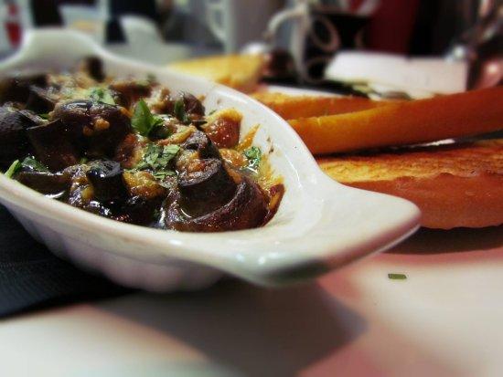 The Dream Cafe: Melted Mushrooms (previous menu item)
