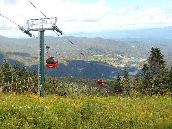 View of ride down via Stowe Mountain Lodge's Gondola ride.