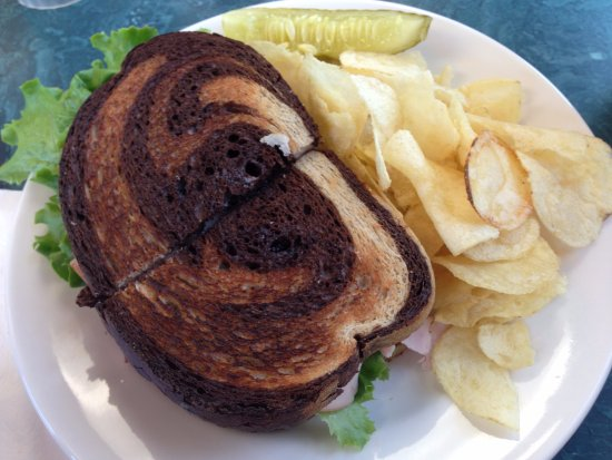 Water Street Cafe: Ying and Yang of turkey sandwiches.