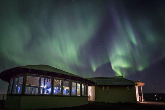 Eyrarbakki, Ισλανδία: northern lights are often great above Hafid Blaa