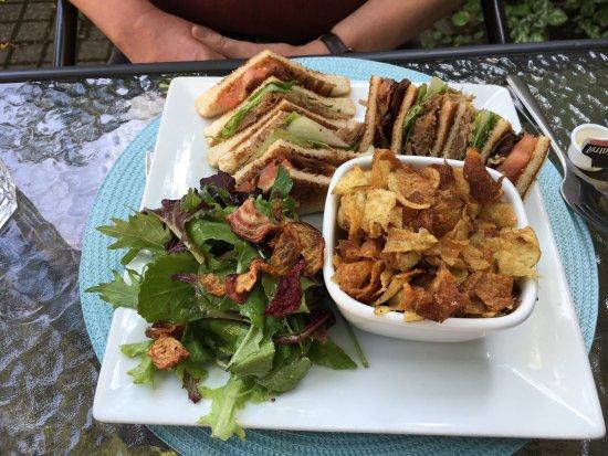 Chez Octave: Duck Club Sandwich