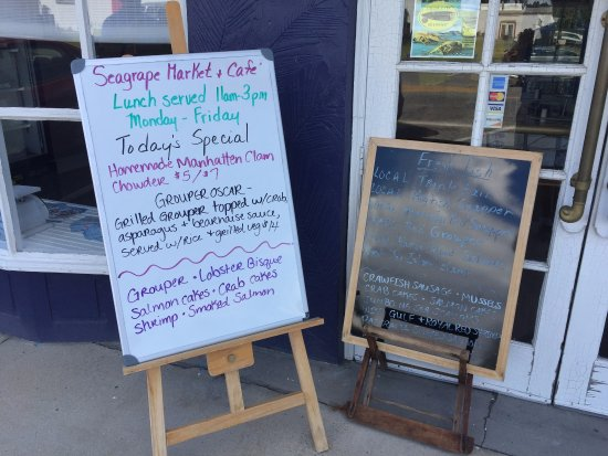 Seagrape Market & Cafe Street Menu and Product Boards - Palmetto FL