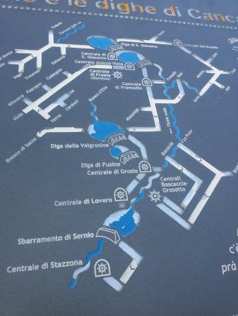 Bormio, Italie : spiegazione del giro dell'acqua