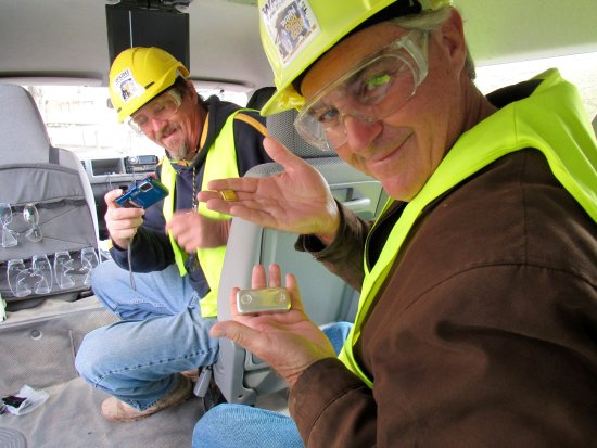 Waihi, Nuova Zelanda: The van tour at the mine.