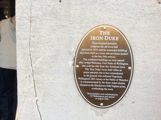 Wellington, UK: A bit of history.