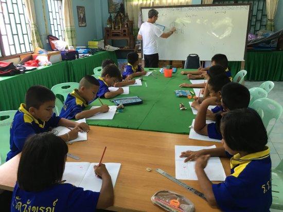 Bang Rachan, Thailand: teaching years 5-6 at the local temple school