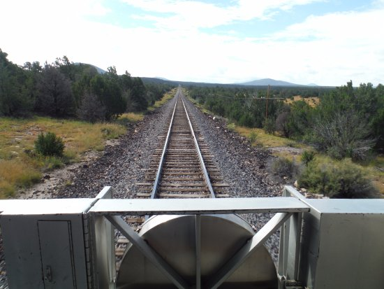 Williams, AZ: View from the rear platform