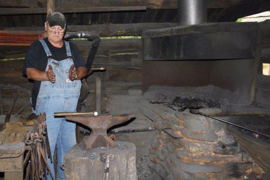 Meadows of Dan, VA: The blacksmith