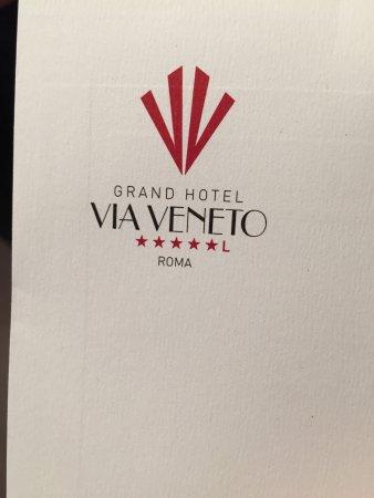 Grand Hotel Via Veneto: welcome letter