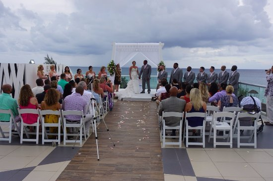 The Fives Azul Beach Resort Playa Del Carmen Sky Deck Wedding Ceremony