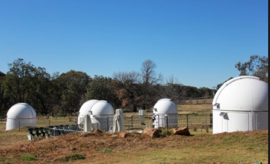 Warrumbungle Observatory: About 6 domes litter the paddock. Quite odd.