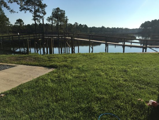 Milton, FL: walking bridge between east and west sides