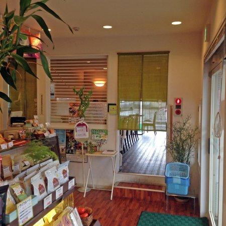 Chikugo, Japón: 店内(喫茶部の入り口)