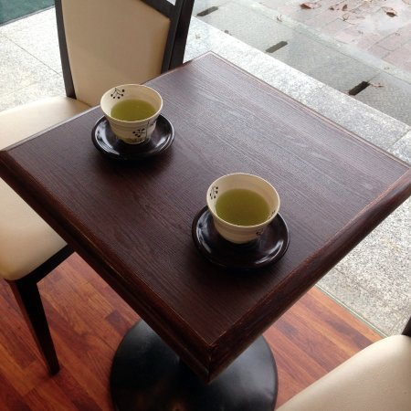Chikugo, Jepang: 店内(日本茶サービス用のテーブル席)