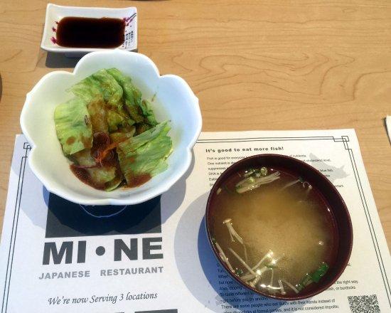 ออโรรา, แคนาดา: Miso Soup & Green Salad