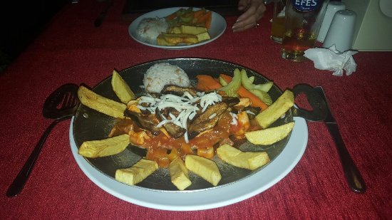 Visited aubergine twice and enjoyed both meals,had mixed grill and aubergine special pictured,wi