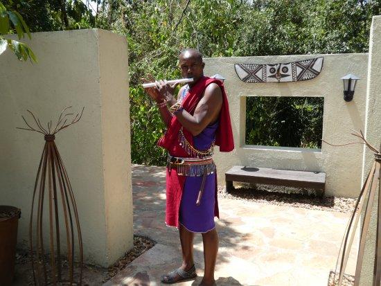 Sanctuary Olonana: Welcome greeting at Olonona