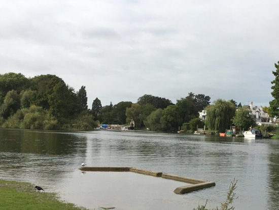 Richmond-upon-Thames, UK : River by the car park