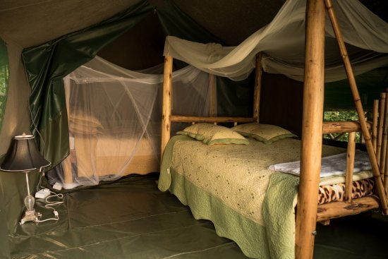 Central Region, Uganda: the perfect bed to rest on. one of our executive tents bed