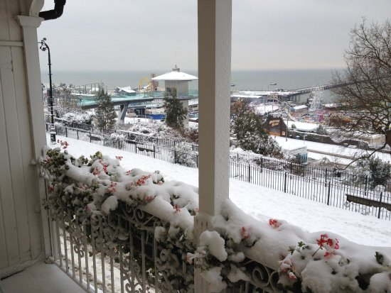 View out of window 1 picture of pier view self catering for 1 royal terrace southend on sea