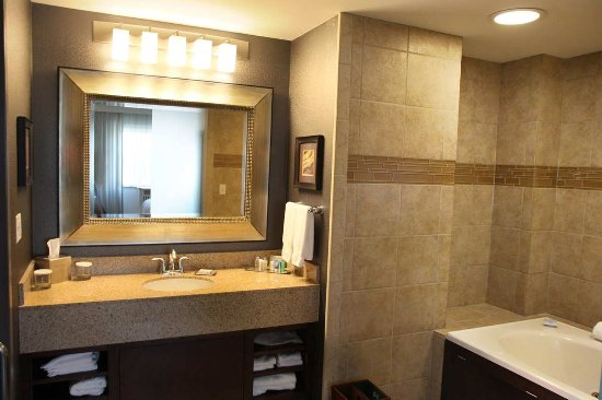DoubleTree by Hilton Rochester / Mayo Clinic Area: 1 King Premium 2 Room Suite, Vanity