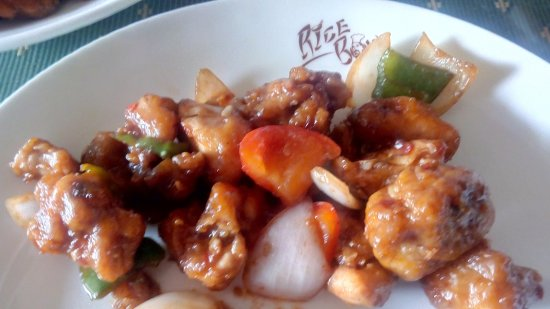 Rice Bowl : chilly chicken dry
