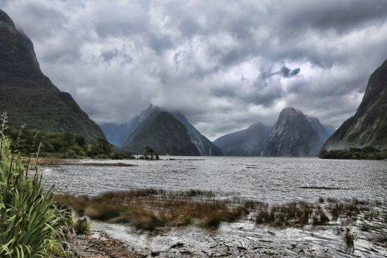 Milford Sound: un jour de tempête