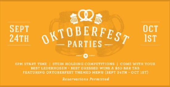 Langley City, كندا: An Oktoberfest-themed Feature Menu At All JRG Public Houses from Sept 19 – Oct 2, 2016