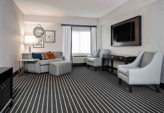 Brookline, MA: One-Bedroom Suite Living Area