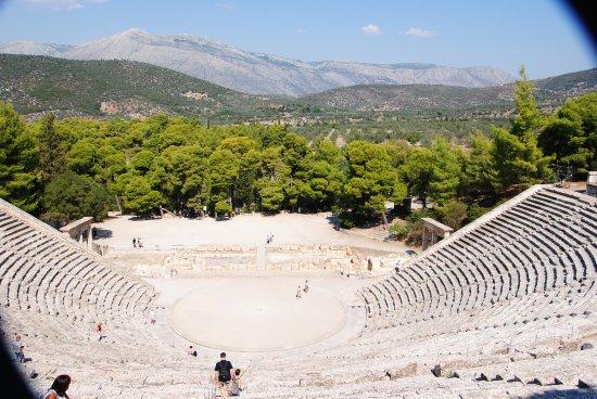 Epidavros, Griechenland: чаша театра