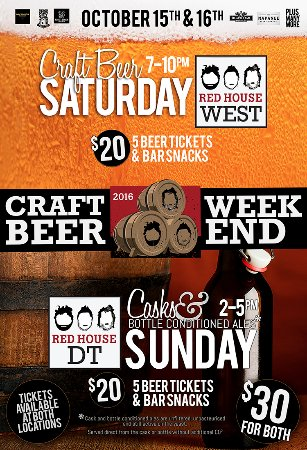 Red House : Amazing beer sampling event coming up! Get your tickets fast!
