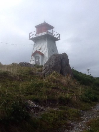 Arichat, Kanada: Mist rolling in, not such a climb to the lighthouse as this picture seems!