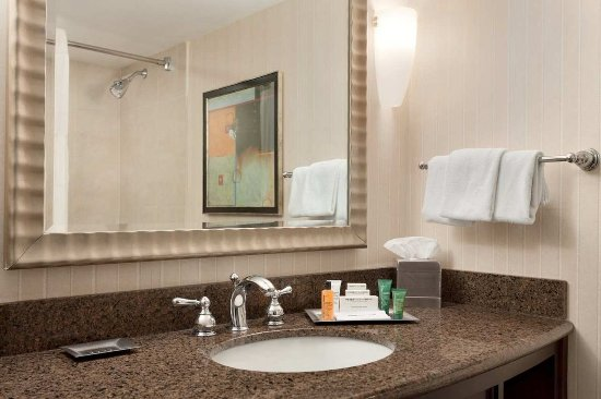 Hilton Newark Penn Station: Guest Room Bathroom