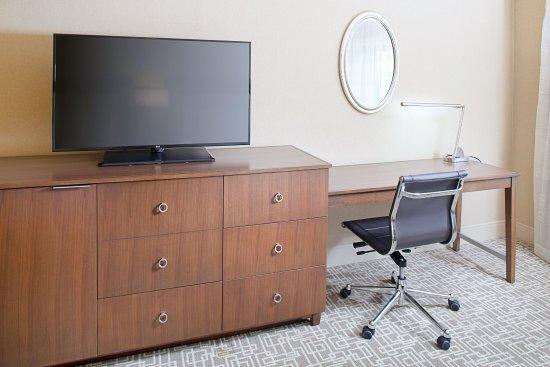 Dedham, MA: Guest Room Media Center and Work Desk