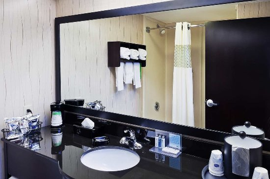 Hampton Inn Sherman Guest Bathroom