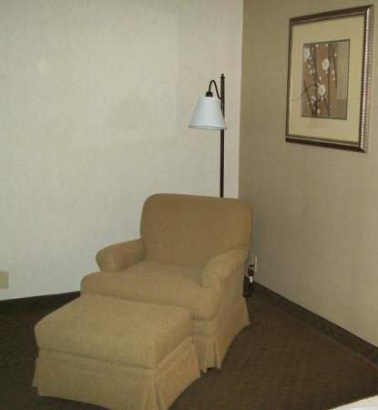 Sidney, OH: Upholstered Chair/Ottoman