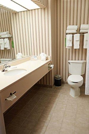 Scottsburg, Ιντιάνα: King Room Bathroom Area