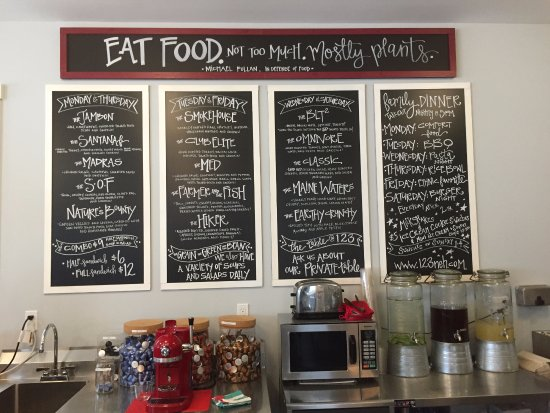 Northeast Harbor, ME: When the menu is topped with a quote from Michael Pollan, you KNOW the food will be good!