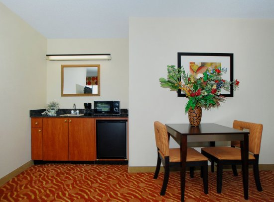 Holiday Inn Express & Suites Anderson, SC guest room wet bar area