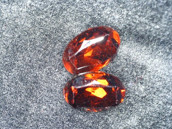 Cherokee Ruby & Sapphire Mine: Two ovel garnets from my very first trip. About 1.5 carats each.