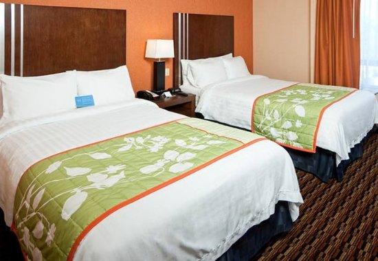 Millbrae, Californië: Double/Double Guest Room Sleeping Area