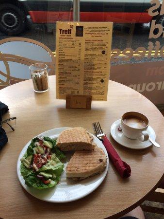 Tuna sandwich and coffee, at Cafe Treff, Ambleside