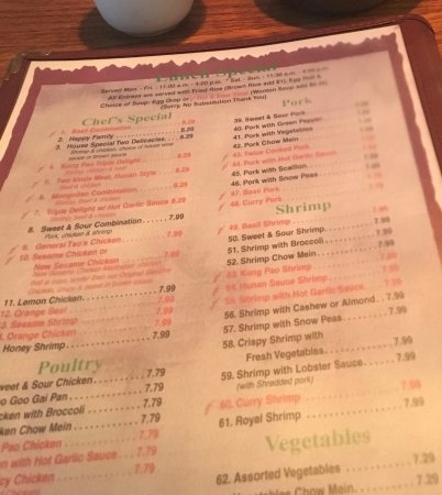 Lakewood, CO: menu