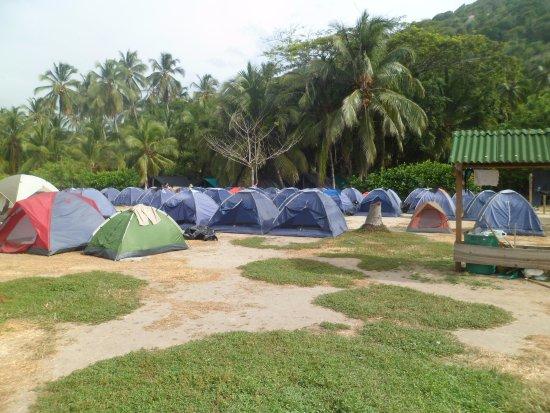Tayrona National Park, Kolombia: ZONA CAMPING CABO SAN JUAN