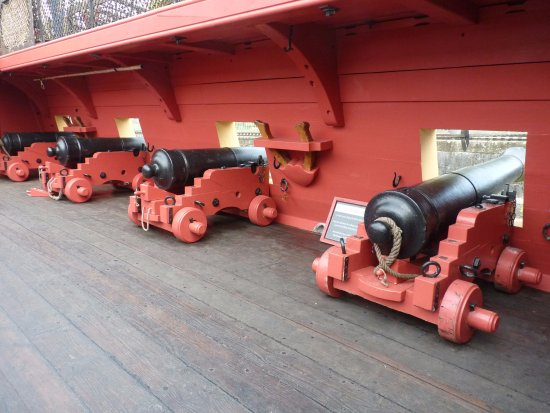 Rochefort, France : les canons