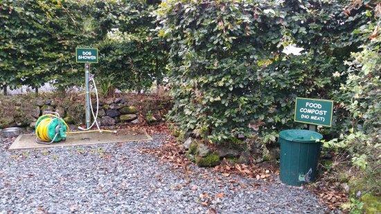 Tavistock, UK: Dog washing station and food recycling