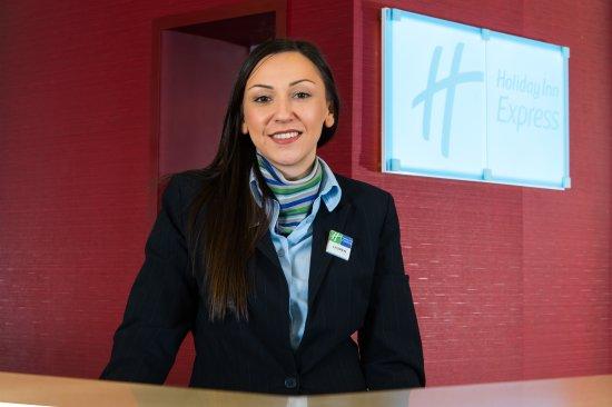 A warn welcome awaits at Holiday Inn Express Taunton