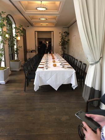 Spago Beverly Hills: Private Dining Room Overlooking The Courtyard.