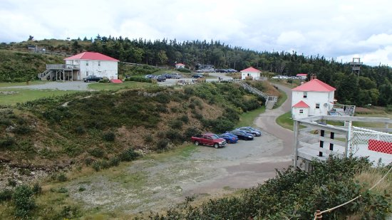 Waterside, แคนาดา: Overview of entrance, roads and parking at Cape Enrage